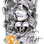 Newschool Gypsy Woman Tattoo