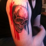 Trash Polka Tattoo Skull