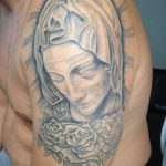 Maria Statue Tattoo Arm