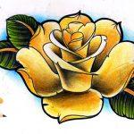 Oldschool Rose Tattooflash