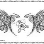 Tattoovorlage Biomec Tribal auge
