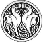 keltische Hunde Knoten Tattooart