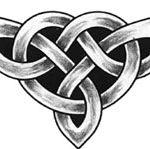Keltisches Knotendreieck Tattoo