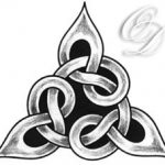 Keltisches Knoten dreieck Tattoo