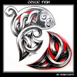 Celtic Fish celtic biomechanical tattooflash
