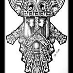 Celtic Viking maske tattooflash knoten