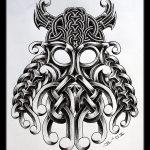 Celtic Viking maske tattoomotiv knoten