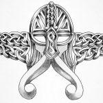 Celtic Viking maske tattoomotiv knot