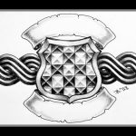 Celtic crest tattoomotiv knots