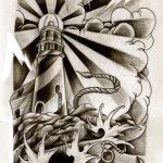 Leuchtturm Sleve Tattoomotiv