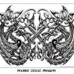 Celtic double dragon tattoomotiv knots
