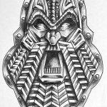 Celtic viking face tattoomotiv knots