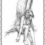 Tattoovorlage Engel 2 mit Fluegel