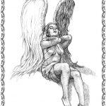 Tattoovorlage Engel mit Fluegel