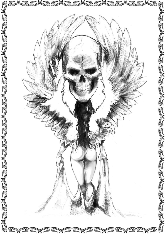 Zeichnungen Tattoo Vorlagen Engel