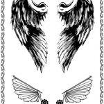 Tattoovorlage dunkle EngelsFluegel