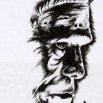 Frankenstein tattoomotiv knots