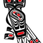 Nativ American Tattooart Eule Totem