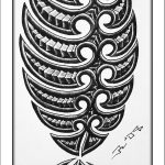Maori fisch tattoomotiv arm