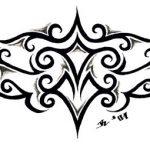 tribal tattoomotiv ruecken