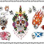 Tattoovorlage Dagger, skull,oldschool