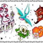 Tattoovorlage, tattooflash, devil,banner,oldschool, newschool
