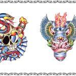 Tattoomotiv, schlange, dolch,skull,fluegel,rosen
