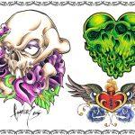 Tattoomotiv, skull,totenkopf,rosen,herz schloss