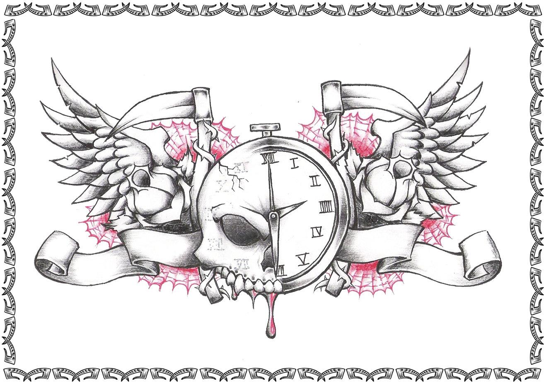 Tribal Heart With Banner Tattoovorlagen – Old...