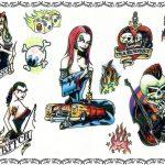 Tattoovorlagen, psychobilly, goth, punk,oldschool, bass