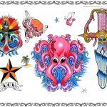 Tattoovorlagen, anker,anchor,seemann,krake,stern,dolch