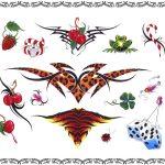 Tattoovorlagen, woman, tribal, leo, tiger,würfel,kirschen, kleeblatt