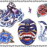 Tattoovorlagen, anker,anchor,rose,lilie,henja,delphin