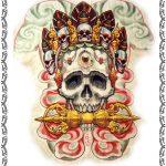 Tattoomotiv, rücken, backpice,canibal, skulls,