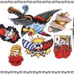 Tattoovorlage, tattooflash, eagle,adler,fire,oldschool, newschool