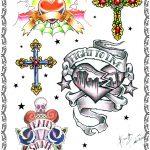 tattooflash, herz,web,kreuz,kruzifix,knochen,banner