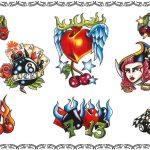 Rockabilly tattoo, eightball,lucky 13, lucky 7,eightballcherrys,cherrys,herz