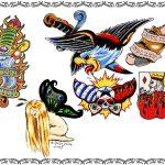Halstattoos,dolch,adler,karten,elfe