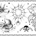 Tattoovorlage, schwalbe, web, netz,rose,spinne,newschool
