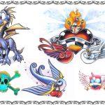 Tattooflash, drache,skull,schwalben,flügel