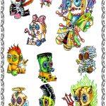 Tattoomotiv, monster,halloween,baby, knopfaugen