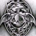 Halloween Kürbis Tattoomotiv