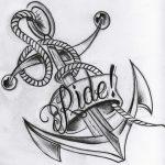 Anker Tattoo mit Banner