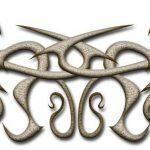 Tribal Tattoo gold bio Tattoovorlage
