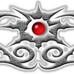 Tribal Tattoo silber Tattoovorlage