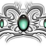 Tribal Tattoo hals Tattoovorlage