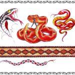 Tattoomotiv Klapperschlange, Cobra, Schlangenmuster,knoten