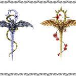 Schwert mit Flügel