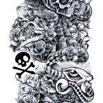 Skull Sleve Tattooflash