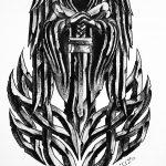 Stein Engel Stein Tribal tattoomotiv knoten